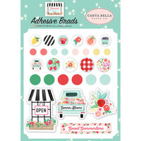 Carta Bella Paper - Summer Market Collection - Self Adhesive Decorative Brads
