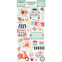 Carta Bella Paper - Summer Market Collection - Chipboard Stickers - Accents