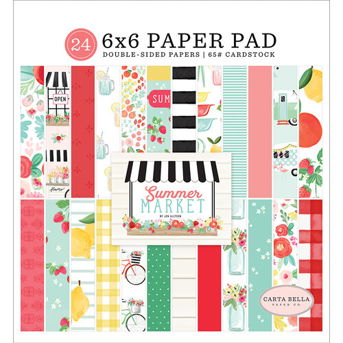 Carta Bella Paper - Summer Market Collection - 6 x 6 Paper Pad