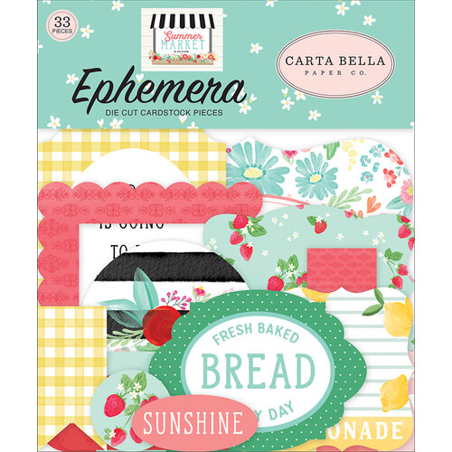 Carta Bella Paper - Summer Market Collection - Ephemera