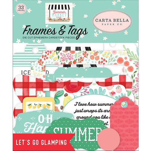 Carta Bella Paper - Summer Market Collection - Ephemera - Frames and Tags