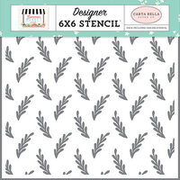 Carta Bella Paper - Summer Market Collection - 6 x 6 Stencil - Summer Branch
