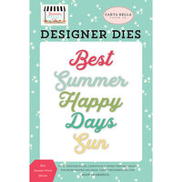 Carta Bella Paper - Summer Market Collection - Decorative Dies - Best Summer Word