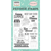 Carta Bella Paper - Summer Market Collection - Clear Photopolymer Stamps - Happy Summer