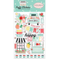 Carta Bella Paper - Summer Market Collection - Puffy Stickers