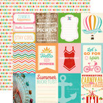 Carta Bella - Soak up the Sun Collection - 12 x 12 Double Sided Paper - 3 x 4 Journaling Cards