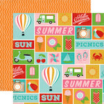Carta Bella - Soak up the Sun Collection - 12 x 12 Double Sided Paper - Summer Icons