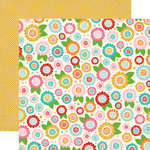 Carta Bella - Soak up the Sun Collection - 12 x 12 Double Sided Paper - Floral Bloom