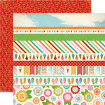 Carta Bella - Soak up the Sun Collection - 12 x 12 Double Sided Paper - Border Strip