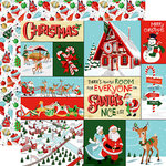 Carta Bella Paper - Santa's Workshop Collection - Christmas - 12 x 12 Double Sided Paper - Multi Journaling Cards