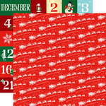 Carta Bella Paper - Santa's Workshop Collection - Christmas - 12 x 12 Double Sided Paper - Dash Away