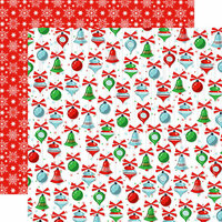 Carta Bella Paper - Santa's Workshop Collection - Christmas - 12 x 12 Double Sided Paper - Christmas Trimmings