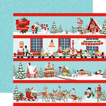 Carta Bella Paper - Santa's Workshop Collection - Christmas - 12 x 12 Double Sided Paper - Border Strips