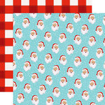 Carta Bella Paper - Santa's Workshop Collection - Christmas - 12 x 12 Double Sided Paper - Holly Jolly Santa