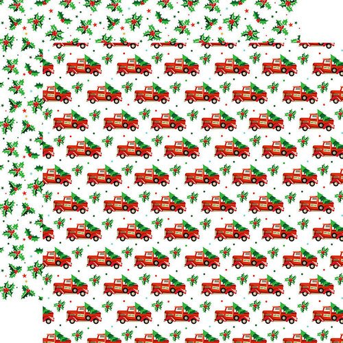 Carta Bella Paper - Santa's Workshop Collection - Christmas - 12 x 12 Double Sided Paper - Tree Haul