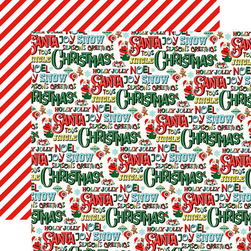 Carta Bella Paper - Santa's Workshop Collection - Christmas - 12 x 12 Double Sided Paper - Season's Greetings