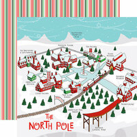 Carta Bella Paper - Santa's Workshop Collection - Christmas - 12 x 12 Double Sided Paper - North Pole