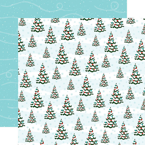 Carta Bella Paper - Santa's Workshop Collection - Christmas - 12 x 12 Double Sided Paper - Oh Christmas Tree