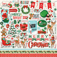 Carta Bella Paper - Santa's Workshop Collection - Christmas - 12 x 12 Cardstock Stickers
