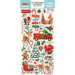 Carta Bella Paper - Santa's Workshop Collection - Christmas - Chipboard Stickers - Accents