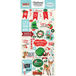 Carta Bella Paper - Santa's Workshop Collection - Christmas - Chipboard Stickers - Phrases