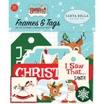 Carta Bella Paper - Santa's Workshop Collection - Christmas - Ephemera - Frames and Tags