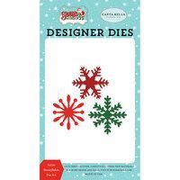 Carta Bella Paper - Santa's Workshop Collection - Christmas - Designer Dies - Santa Snowflakes