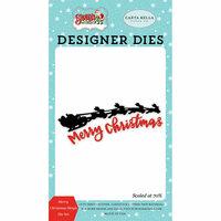 Carta Bella Paper - Santa's Workshop Collection - Christmas - Designer Dies - Merry Christmas Sleigh