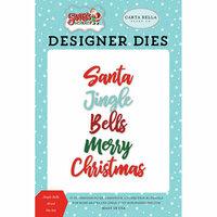 Carta Bella Paper - Santa's Workshop Collection - Christmas - Designer Dies - Jingle Bells Word