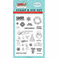 Carta Bella Paper - Santa's Workshop Collection - Christmas - Clear Photopolymer Stamps - To All A Good Night