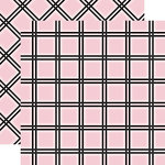 Carta Bella Paper - Tartan No. 1 Collection - 12 x 12 Double Sided Paper - Pink Tattersall