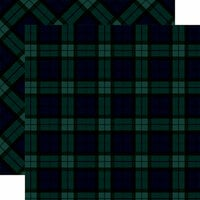 Carta Bella Paper - Tartan No. 1 Collection - 12 x 12 Double Sided Paper - Black Watch
