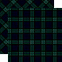 Carta Bella Paper - Tartan No. 2 Collection - 12 x 12 Double Sided Paper - Merry Black Watch