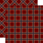 Carta Bella Paper - Tartan No. 2 Collection - 12 x 12 Double Sided Paper - Red Tattersall