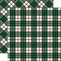 Carta Bella Paper - Tartan No. 2 Collection - 12 x 12 Double Sided Paper - Green Glen