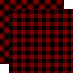 Carta Bella Paper - Tartan No. 2 Collection - 12 x 12 Double Sided Paper - Red Buffalo