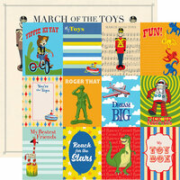 Carta Bella Paper - Toy Box Collection - 12 x 12 Double Sided Paper - 3 x 4 Journaling Cards