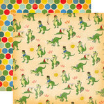 Carta Bella Paper - Toy Box Collection - 12 x 12 Double Sided Paper - Roaring T Rex
