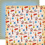 Carta Bella Paper - Toy Box Collection - 12 x 12 Double Sided Paper - Toys Everywhere