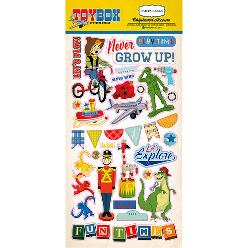 Carta Bella Paper - Toy Box Collection - Chipboard Stickers