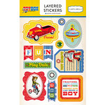 Carta Bella Paper - Toy Box Collection - Layered Cardstock Stickers