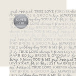 Carta Bella Paper - True Love Silver Foil Collection - 12 x 12 Paper with Foil Accents - Grey