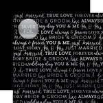 Carta Bella Paper - True Love Silver Foil Collection - 12 x 12 Paper with Foil Accents - Black