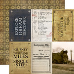 Carta Bella Paper - Transatlantic Travel Collection - 12 x 12 Double Sided Paper - 4 x 6 Journaling Cards