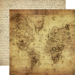 Carta Bella Paper - Transatlantic Travel Collection - 12 x 12 Double Sided Paper - Vintage Map