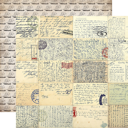 Carta Bella Paper - Transatlantic Travel Collection - 12 x 12 Double Sided Paper - Vintage Letters
