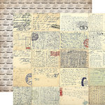Carta Bella Paper - Transatlantic Travel Collection - 12 x 12 Double Sided Paper - Vintage Letters