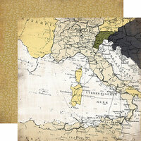 Carta Bella Paper - Transatlantic Travel Collection - 12 x 12 Double Sided Paper - Grand Adventure
