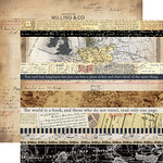 Carta Bella Paper - Transatlantic Travel Collection - 12 x 12 Double Sided Paper - Border Strips