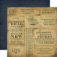 Carta Bella Paper - Transatlantic Travel Collection - 12 x 12 Double Sided Paper - Journey